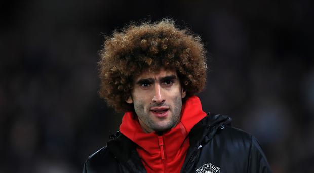 Marouane Fellaini was warmly applauded by Manchester United fans when he came on as a substitute at West Brom