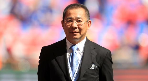 Leicester chairman Vichai Srivaddhanaprabha, pictured, is unhappy with Jamie Vardy's ban