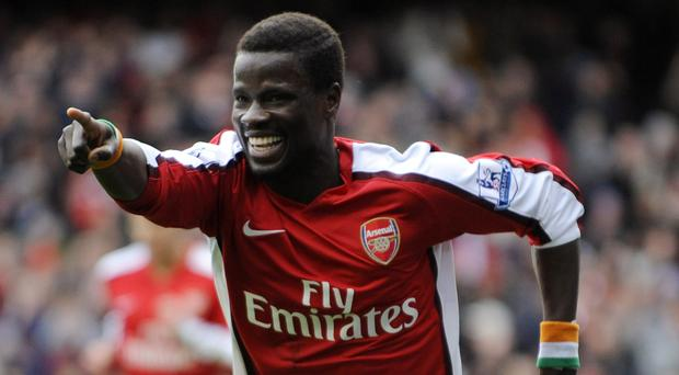 Emmanuel Eboue still lights up at the mention of Arsenal. Photo: Reuters