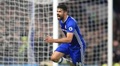 Chelsea's Diego Costa scored the Blues' fourth goal of the afternoon