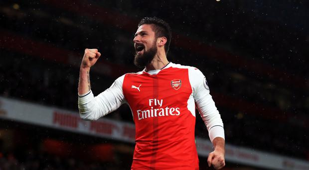 Arsenal manager described Olivier Giroud's goal as