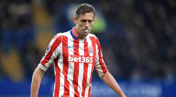 Stoke boss Mark Hughes is pleased with the contribution of 35-year-old Peter Crouch