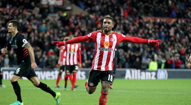 Sunderland's Jermain Defoe celebrates making it 2-2
