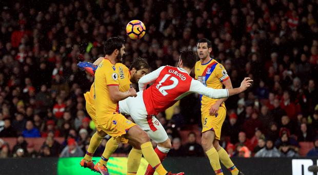 Arsene Wenger described Olivier Giroud's goal as 'art'