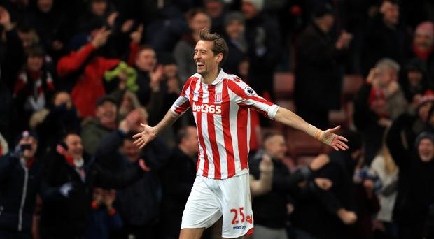 Peter Crouch made it 2-0 just after the break