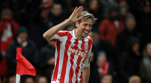 Peter Crouch has scored in back-to-back Premier League games having gone 19 months without netting