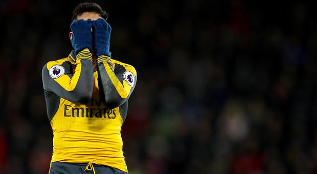 Alexis Sanchez cut a frustrated figure in Arsenal's 3-3 draw at Bournemouth