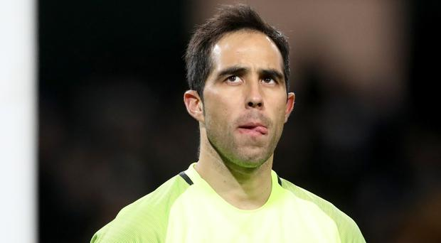 Claudio Bravo is still to convince at Manchester City