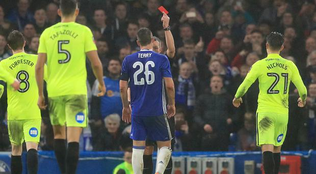 John Terry saw red against Peterborough