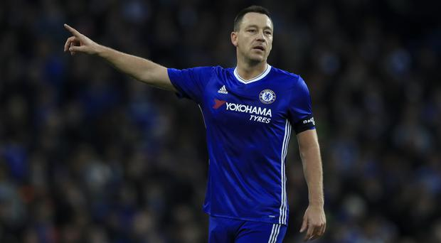 John Terry was sent off against Peterborough