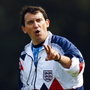 Graham Taylor takes an England training session in 1990 before his first game in charge Photo: Getty
