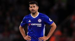 Diego Costa was left out of the squad against Leicester