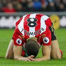 Sunderland's Jack Rodwell during the loss to Stoke