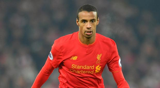 Defender Joel Matip has been withdrawn from the squad to face Manchester United