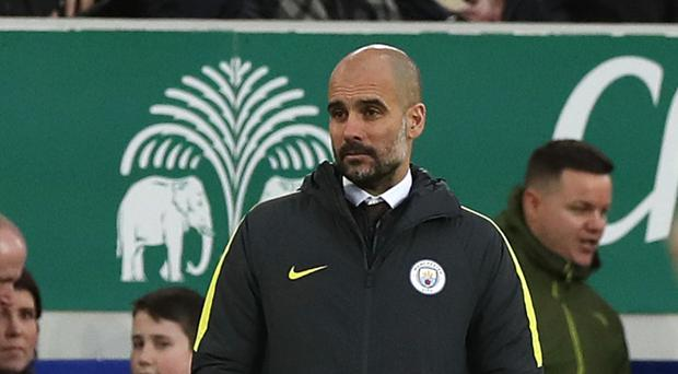 Pep Guardiola's Manchester City suffered a heavy defeat at Everton