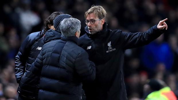 Jose Mourinho and Jurgen Klopp set to clash at Old Trafford on March 25th