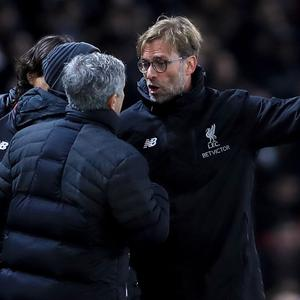 Jose Mourinho (left) and Jurgen Klopp (right)