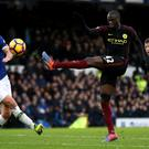 Yaya Toure could not prevent Manchester City suffering a heavy defeat on Merseyside