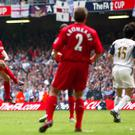 Steven Gerrard provided many defining moments for Liverpool, including this FA Cup final equaliser in 2006