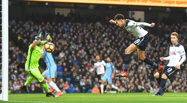 Dele Alli heads home from Tottenham's first attempt on target