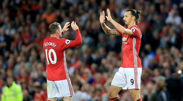 Zlatan Ibrahimovic, right, struggles to understand why his team-mate Wayne Rooney is not cherished