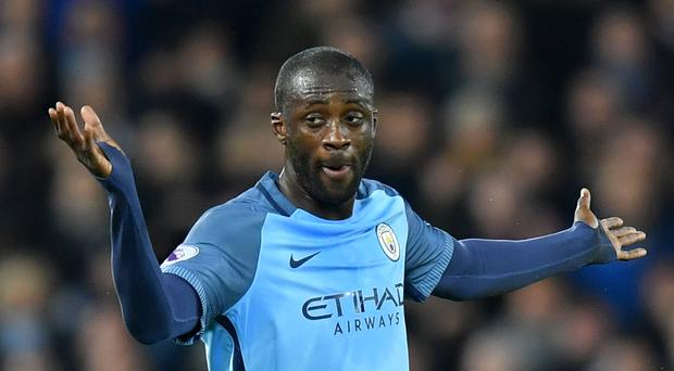Yaya Toure and Manchester City were held to a frustrating and controversial draw by Tottenham