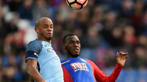 Manchester City's Vincent Kompany, left, came through unscathed against Crystal Palace