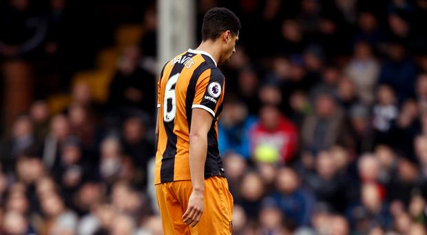 Curtis Davies lasted just eight minutes at Craven Cottage