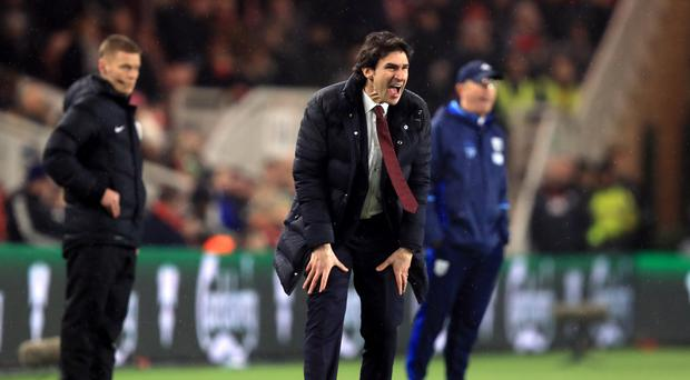 Head coach Aitor Karanka has insisted he is happy at Middlesbrough