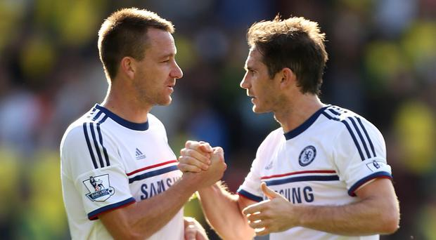 Chelsea's John Terry, left, has paid tribute to Frank Lampard, right, after his former team-mate's retirement