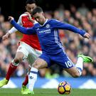 Eden Hazard, right, was to the fore in Chelsea's win
