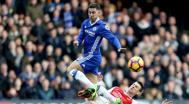 Eden Hazard scored a stunning solo effort in Chelsea's win over Arsenal