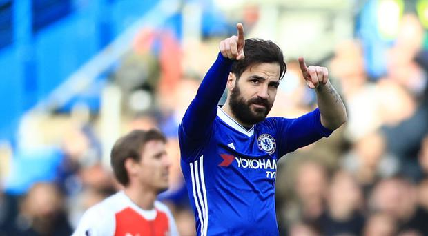 Cesc Fabregas was on the scoresheet as Chelsea beat Arsenal