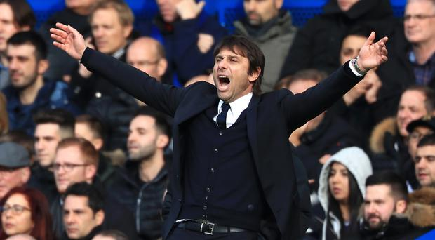 Chelsea manager Antonio Conte saw his team nudge closer to the title