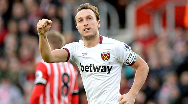 Mark Noble's deflected free-kick secured three points for West Ham