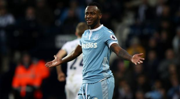Saido Berahino moved from West Brom to Stoke in January