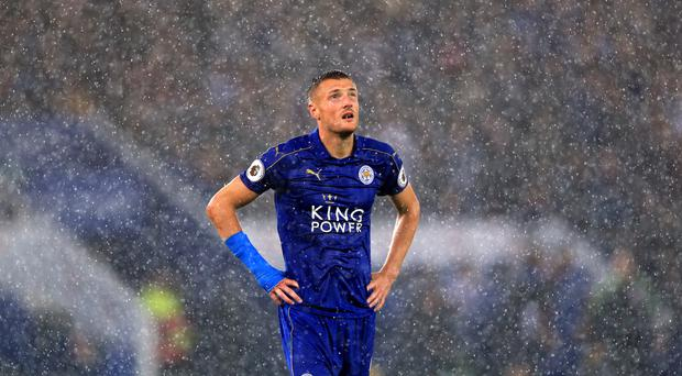 Leicester's Jamie Vardy has suffered a loss of form as the champions battle relegation