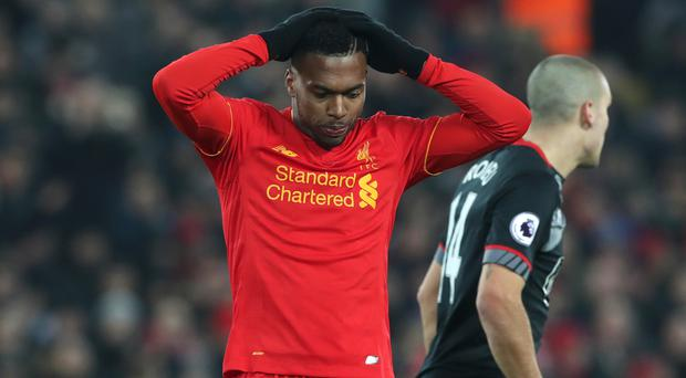Sturridge has started just five Premier League game for Liverpool this season