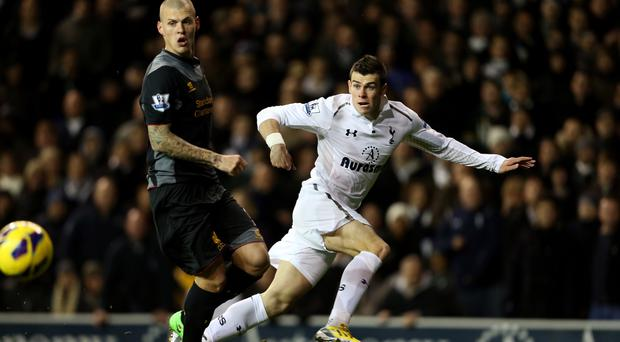 Spurs' last win over Liverpool featured a goal, an assist and an own goal from Gareth Bale, right
