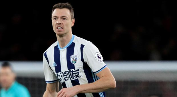 West Brom's Jonny Evans has missed the last five games through injury