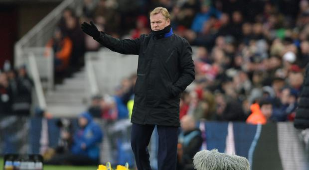 Everton manager Ronald Koeman saw his side draw at Middlesbrough