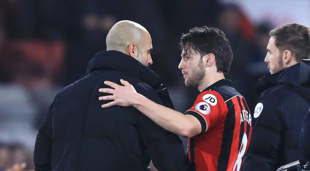 Harry Arter was touched by Pep Guardiola's comments after the match