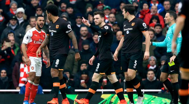 Hull's loss to Arsenal was a contentious affair