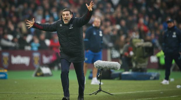 West Ham United manager Slaven Bilic, pictured, and his assistant Nikola Jurcevic have both been fined by the FA