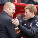 Danny Cowley rates Burnley boss Sean Dyche, left, and Bournemouth manager Eddie Howe, right, highly
