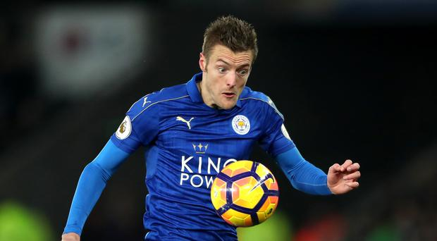 Leicester's Jamie Vardy has seven goals this season after scoring 28 for the Foxes and England last term