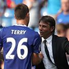 Chelsea head coach Antonio Conte, right, praised the impact of the likes of John Terry, left, in the FA Cup win at Wolves