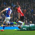 Marcus Rashford levelled the scoring in Manchester United's FA Cup tie at Blackburn