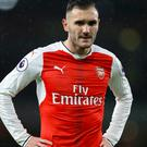 Lucas Perez scored a hat-trick in Arsenal's Champions League win over Basle earlier this season