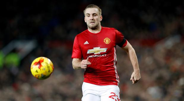 Luke Shaw has not tasted first-team action this month